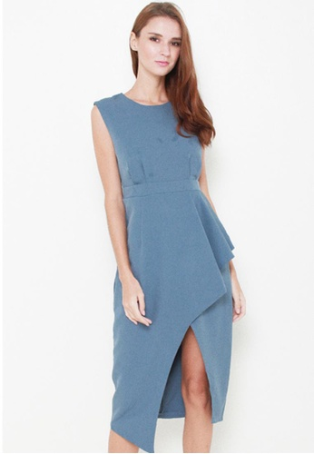 Leline Style blue Elayn Ruffles Dress LE802AA59IQISG_1