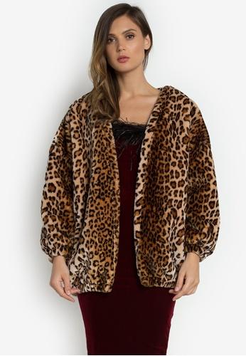 NOBASIC brown Animal Printed Casual Coat FB26AAA5CE1EF2GS_1