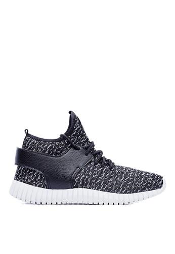 Life8 black 3D Spring Sport Shoes-09444-Black LI286SH22AJXMY_1