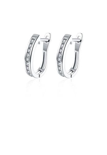 Glamorousky white Fashion Simple Geometric Cubic Zircon Stud Earrings 84EBCAC75BD6D9GS_1