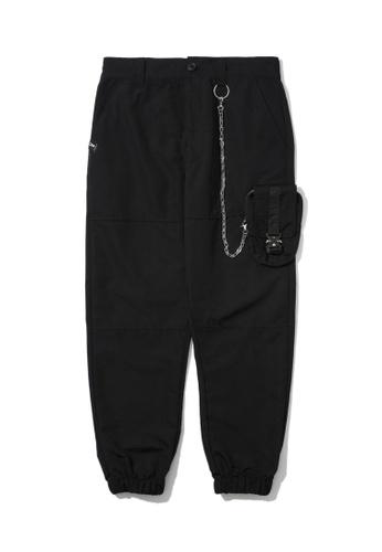 Fivecm black Chain detail pants 3BDEFAAFA3CD6BGS_1