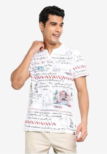 Desigual white Printed Short Sleeves T-shirt 9F269AA4EBD8B7GS_1