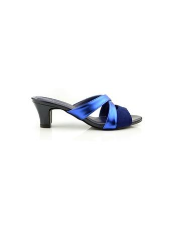 SHINE blue Slip On  Sandal Heels SH554SH0GVJ6SG_1