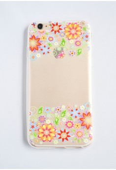 Side Flowers Soft Transparent Case for iPhone 6