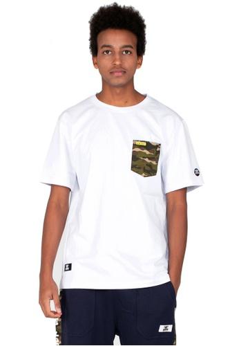Reoparudo white RPD Camo X Reflective Print Contrast Tee (White) 6167CAA8A5A1E8GS_1