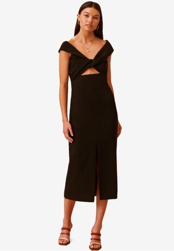 Finders Keepers black Mae Midi Dress A074EAA052A157GS_1