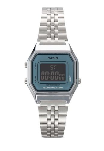 Casio silver Casio Ladies Mid-Size Silver Digital Retro Watch CA843AC24JOLMY_1