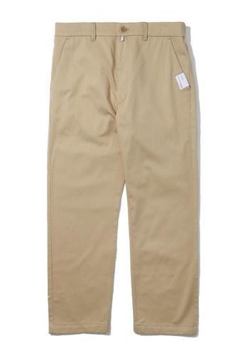 izzue beige Basic chino pants 34110AA0D45DF3GS_1