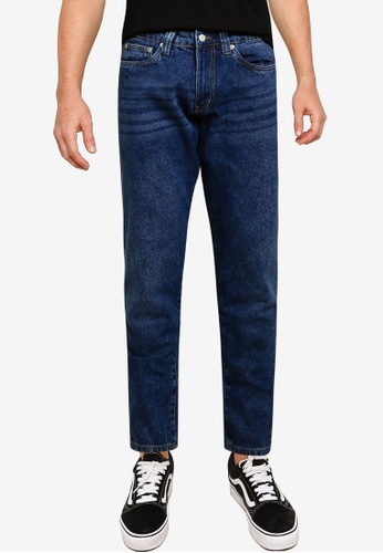 Electro Denim Lab blue Cropped Tapered Jeans 99449AA726807EGS_1