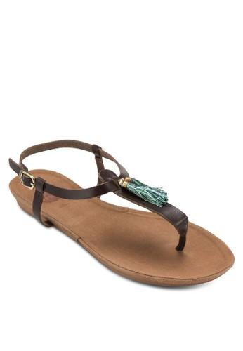 Satisfait 流蘇夾趾涼鞋, 女zalora 內衣鞋, 涼鞋