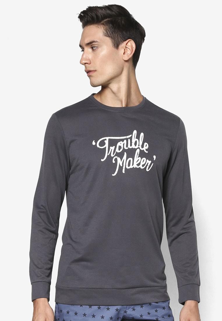 Trouble Maker Text Sweatshirt
