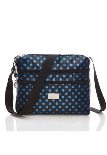 LYCKA black and blue LYCKA L021 Lady Handbag - Blue_Dot 31AB2ACF1DB385GS_1