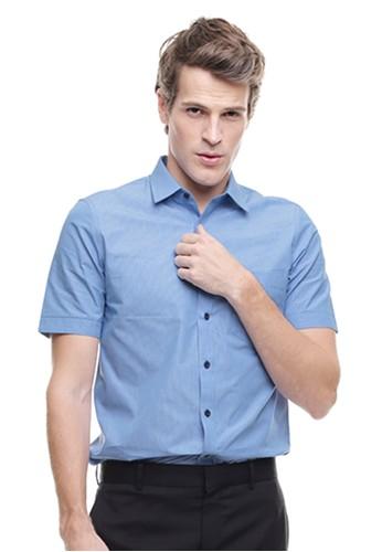 Johnwin blue LGS - Slim Fit - Kemeja Formal - Lengan Pendek - Biru 89646AA87C3733GS_1