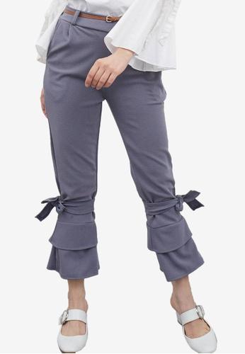Berrybenka grey Stena Bottom Tied Pants 94A4AAADC01A4BGS_1