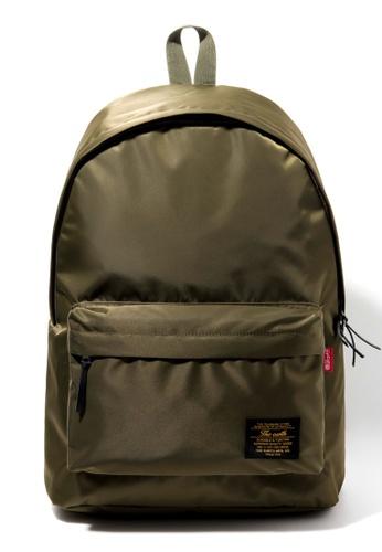 The Earth green Nylon Daypack - Khaki TH224SE36CBBSG_1