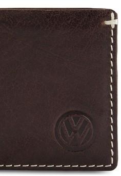 Volkswagen 簡約真皮對折皮夾