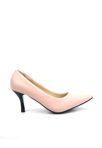 KissXXX 粉紅色 低反發舒適感美腿效果7CM小尖頭高跟鞋 KI603SH09MPWTW_1