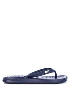 Nike blue Men s Nike Solay Thongs 5D4DBSH37E04B4GS 1 56d7f4732