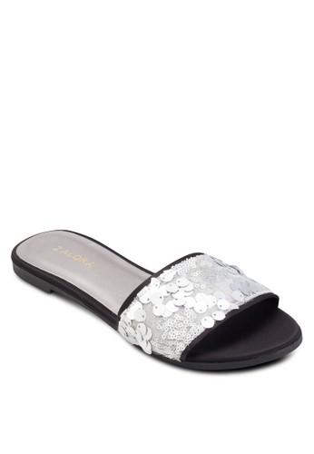 亮片寬帶拖鞋, 女鞋,esprit bag 涼鞋