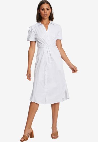 Willa white Matt Shirt Dress 33881AA28743D6GS_1