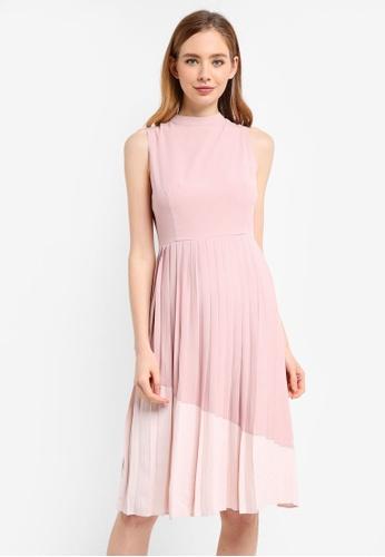 ZALORA multi Contrast Pleated Dress 1DBFCAA11D8A1DGS_1