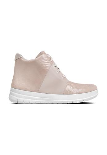 Fitflop pink Sporty-pop™XLizard-print High-top Sneakers FI297SH0F4VSSG_1