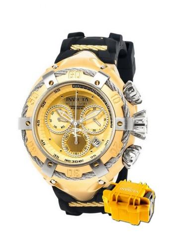 INVICTA gold Invicta Bolt Men Swiss Quartz Chronograph IP 52mm Dress Watch 21352 w/ Impact Case 44EE2AC9E53E3AGS_1