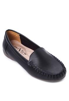 Stitch Detail Flat Loafers