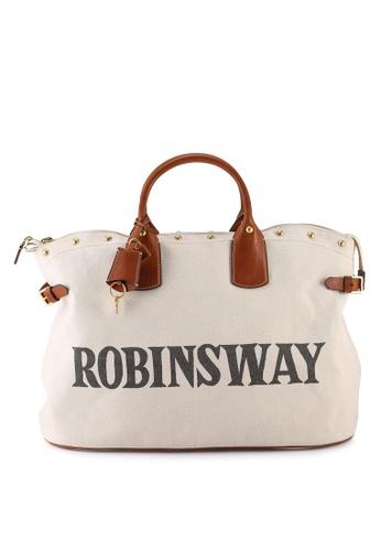 TORY BURCH beige Robinsway Tote Bag (oc) 64755AC6B4DAF7GS_1