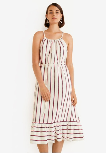 46ecf24102d Shop MANGO Striped Linen Dress Online on ZALORA Philippines