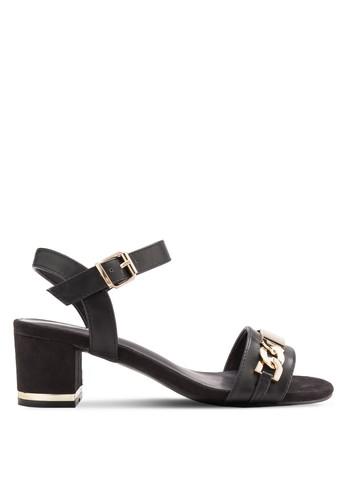 鏤空繞esprit 台北踝厚底涼鞋, 女鞋, 鞋
