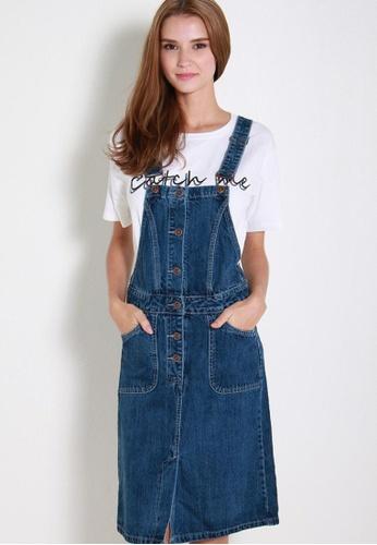 Leline Style blue Rahel Denim Overall Dress LE802AA45SPMSG_1