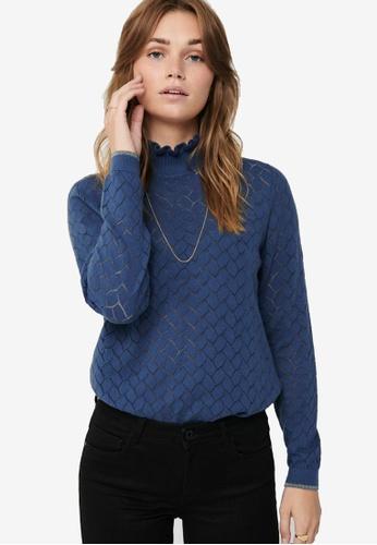 ONLY blue Brandi Life Long Sleeve Pullover E2188AAE030B70GS_1