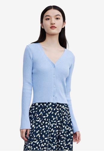 URBAN REVIVO blue Casual Outerwear BDA5BAA179D882GS_1