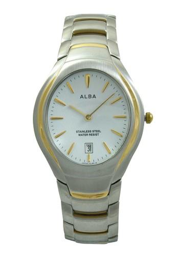 Alba gold and silver ALBA Jam Tangan Pria - Silver Gold White - Stainless Steel - AVKC38 AL383AC52XRFID_1