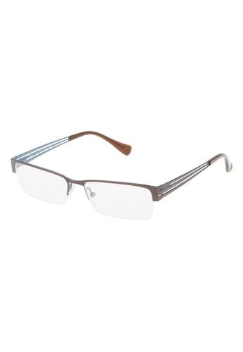 Police brown POLICE Incisive 1 Eyeglasses VPL137 0488 PO706AC18OWZMY_1