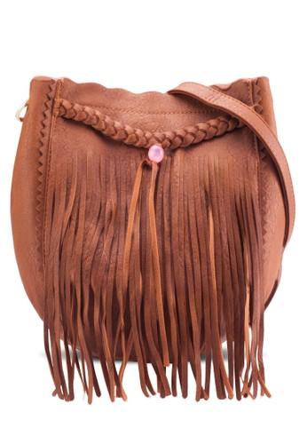 編織流蘇zalora 包包評價斜背包, 包, 斜背包