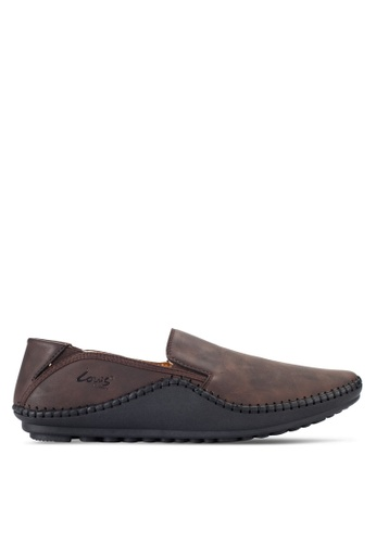 Louis Cuppers brown Stitched Loafers LO977SH47RCMMY_1