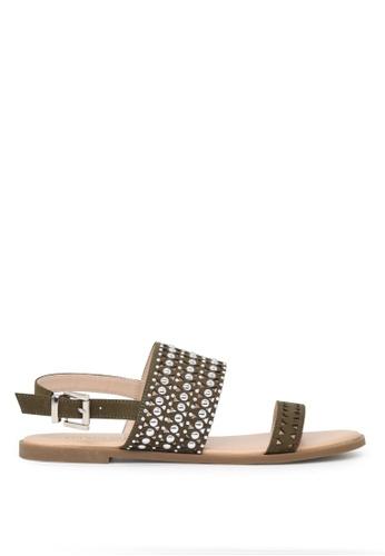 London Rag 米褐色 脚踝条带平底凉鞋 SH1646 CBD73SH7EC53FBGS_1