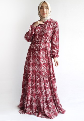 Covering Story red Rafatar Dress C B4512AACF29A6BGS_1