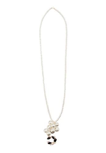 長珍珠項鍊, 飾esprit salon hk品配件, 絕美洋裝