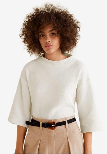 Mango beige Textured Cotton-Blend Sweater 87B01AA0FCEA07GS_1