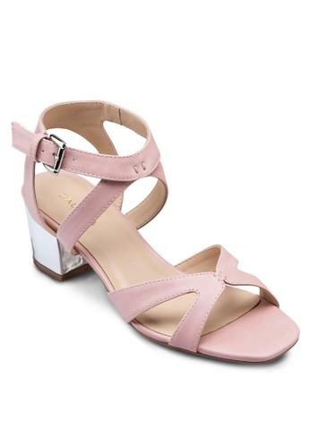 zalora 評價金屬感中跟涼鞋, 女鞋, 鞋