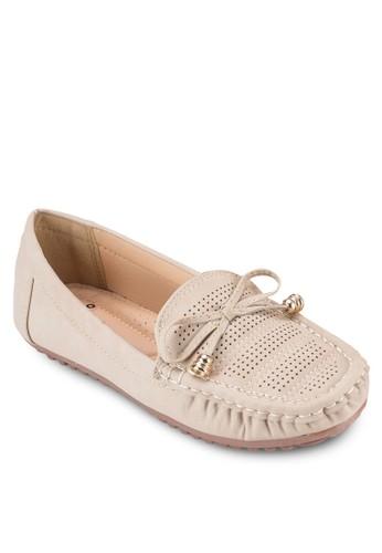 蝴蝶結沖孔樂福鞋,esprit女裝 女鞋, 懶人鞋