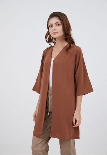 Berrybenka Label brown Sophie Binnie Long Cardigan Brown 3E847AAB046B27GS_1