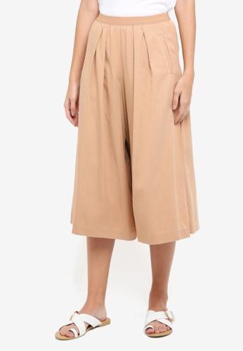 Sisley brown Elastic Trousers. 190E2AA5C2FE19GS_1