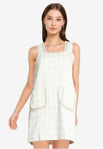 Urban Revivo white Pocket Mini Dress B67D7AA3836A42GS_1