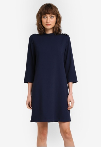 ESPRIT navy Woven Mini Dress ES374AA0SXZOMY_1