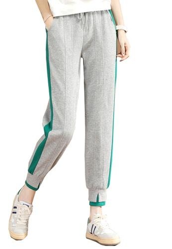 A-IN GIRLS grey Elastic Waist Band Trousers 412FBAA5E86C54GS_1