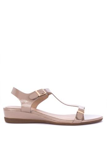21c5cbf7bba Shop CLN Keziah T-Strap Flat Sandals Online on ZALORA Philippines